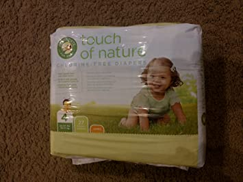 Touch of Nature-chlorine free disposable diapers, size 4, 22-37 lbs