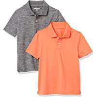 Amazon Essentials Active Performance Polo Shirts Niños, Pack de 2