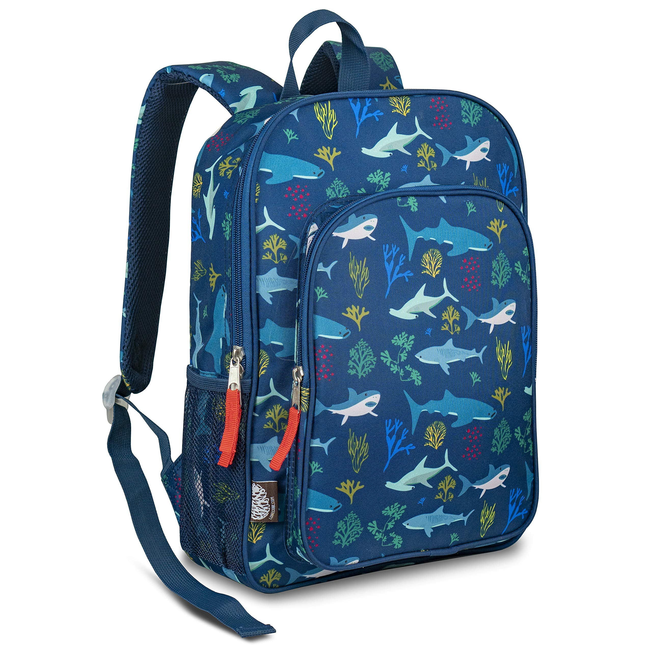LONECONE Kids School Backpack for Boys and Girls - Sized for Kindergarten, Preschool - Shark School by LONECONE