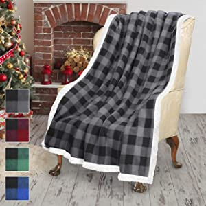 Terrania Super Soft Plush Sherpa Throw TV Blanket Fleece 50