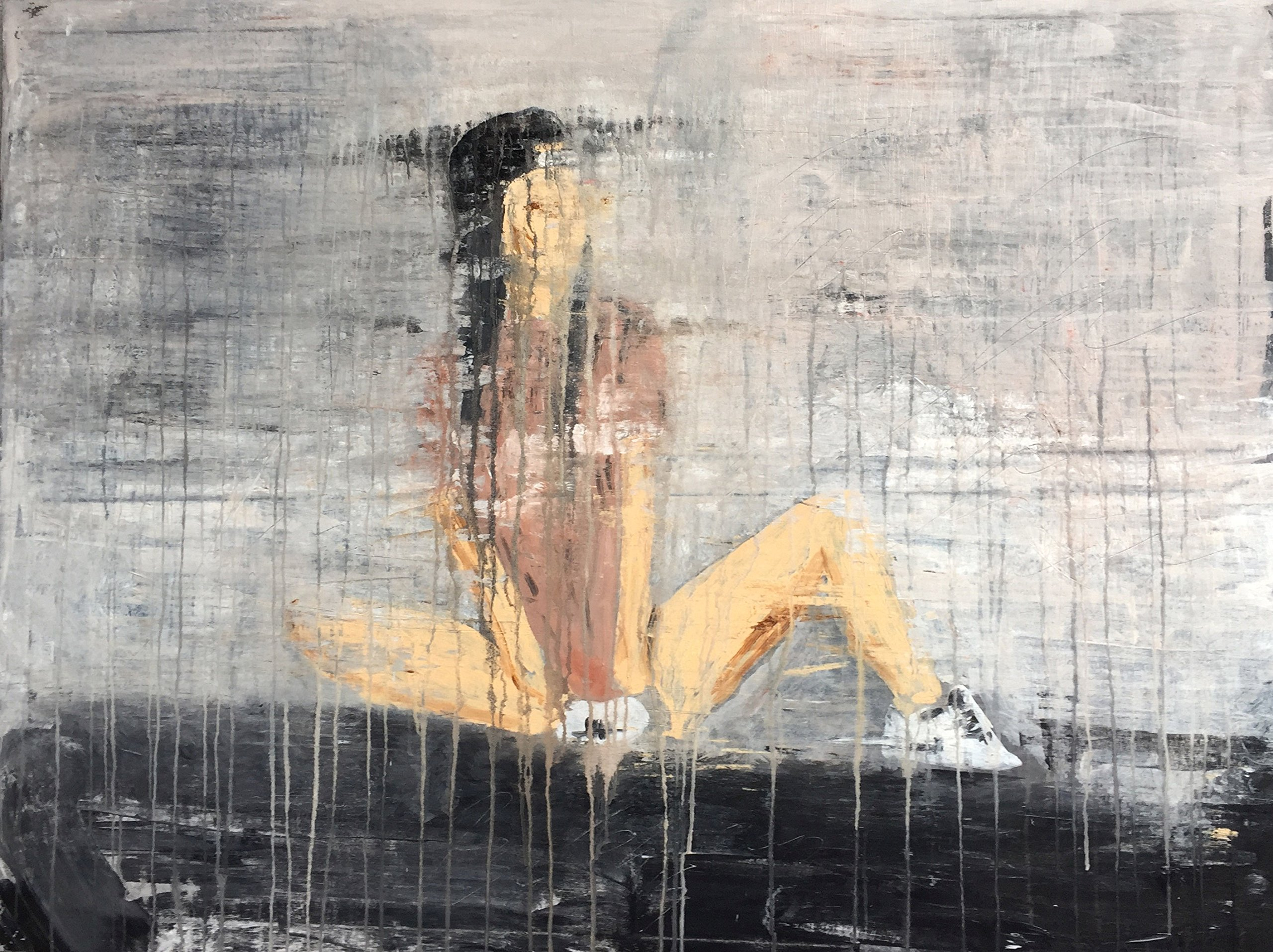 ''1189 abstract young girl jogging''