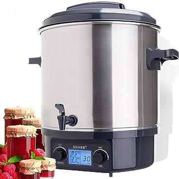kesser Esterilizador para conservas (27 litros Acero inoxidable con temporizador, 2000 W, temperatura