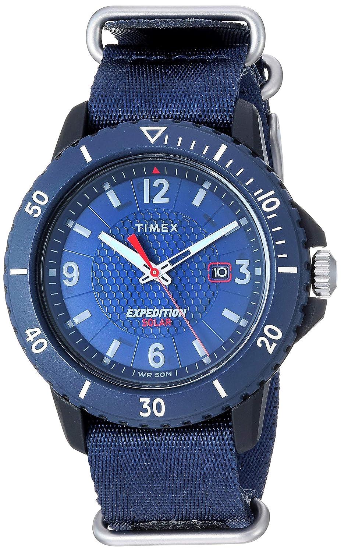 CDM product Timex Men's Sport Expedition Gallatin Solar 45mm Fabric Strap Watch, Blue Dial, Blue Band (Model: TW4B143009J) big image