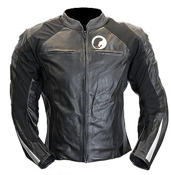 Cazadora moto cuero negro Karno Raptor
