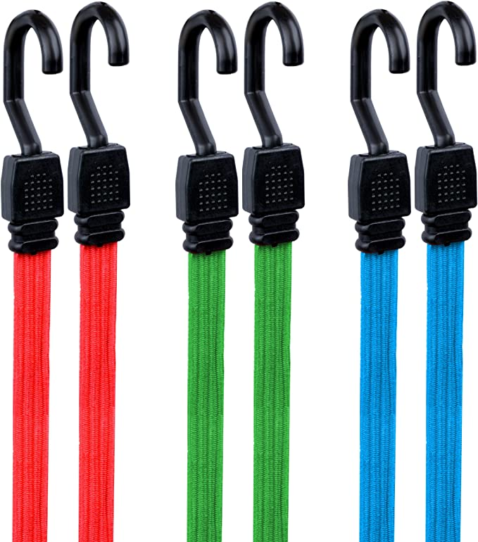 Details about  /2 PCS Elastic Bungee Luggage Strap Rope Hook for Bike Bicycle Pannier Racks New