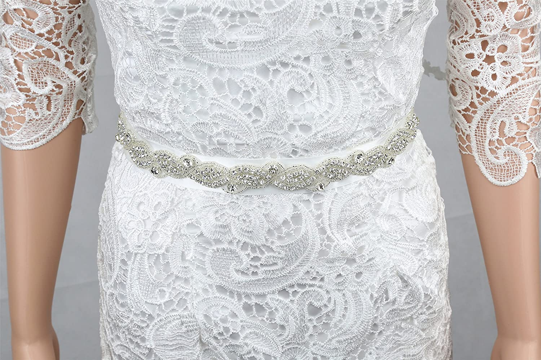 SoarDream Rhinestone Wedding Belt, Bridal Dress Sash, Rhinestone Bridal Belts.