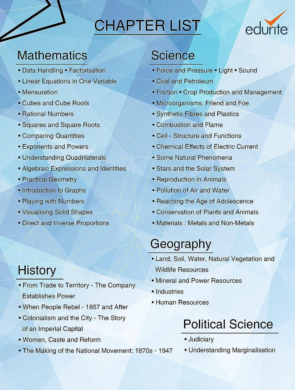 Edurite DVD for CBSE Class 8 Science, Mathematics, Social Science ...