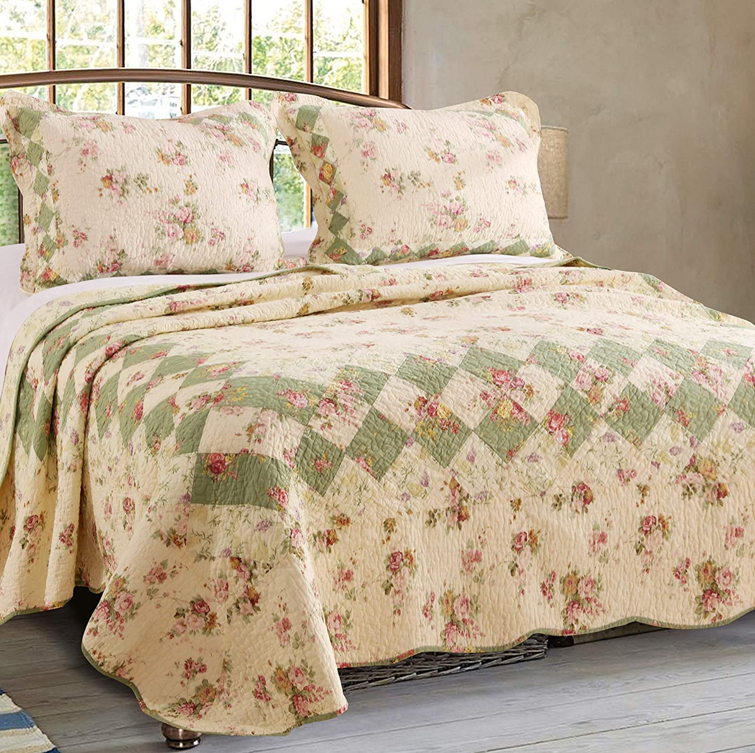 Greenland Home Bliss Twin Quilt Set GL-0307AMST