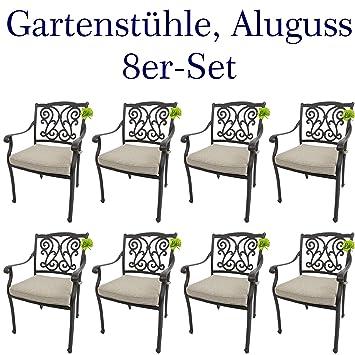 Amazon.de: Made for US 8 Gartenstühle aus wetterfestem Aluguss mit ...