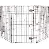 Amazon Basics Foldable Metal Pet Exercise and Playpen