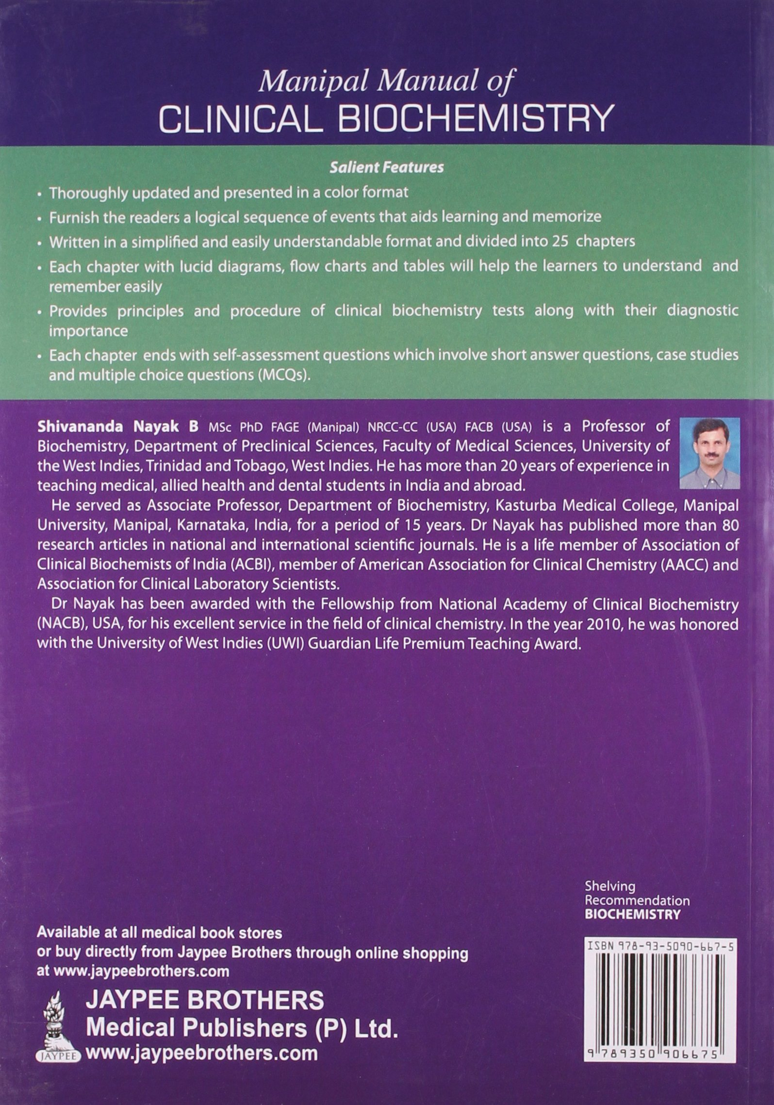 Buy Manipal Manual Of Clinical Biochemistry (For Med.Lab.And Msc Stud.) Book  Online at Low Prices in India | Manipal Manual Of Clinical Biochemistry  (For ...