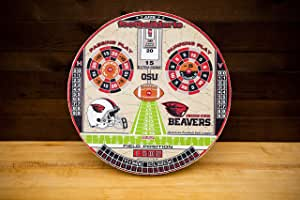 FOOTBALLDARTS Game, Officially Licensed Oregon American Football Dartboard Game, Awesome Fun for Adults & Kids, Take Your Game to The Next Level with The Original American Football Dart League
