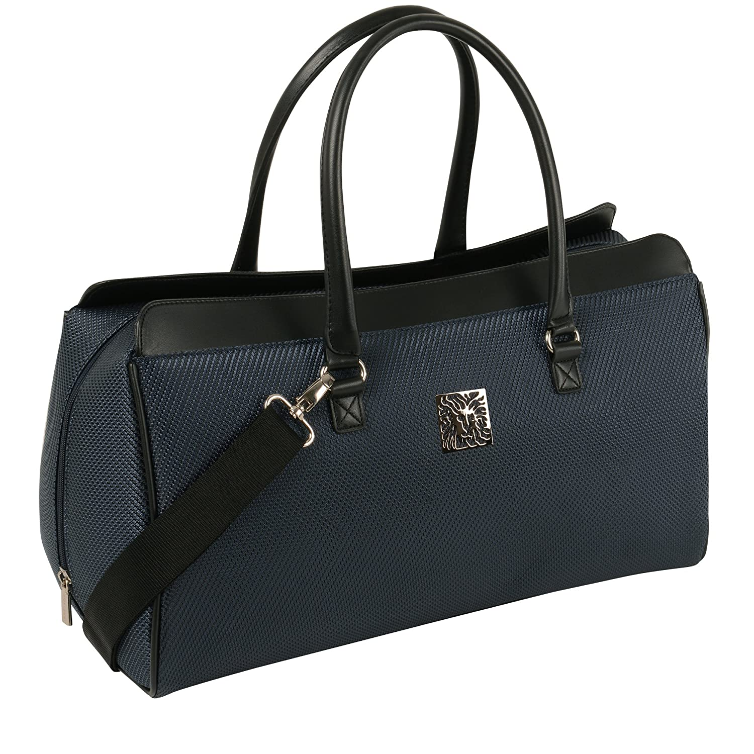 Anne Klein Oslo Carry All Satchel Tote, Navy, One Size 7927C06