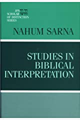 Studies in Biblical Interpretation (A JPS Scholar of Distinction Book) Hardcover