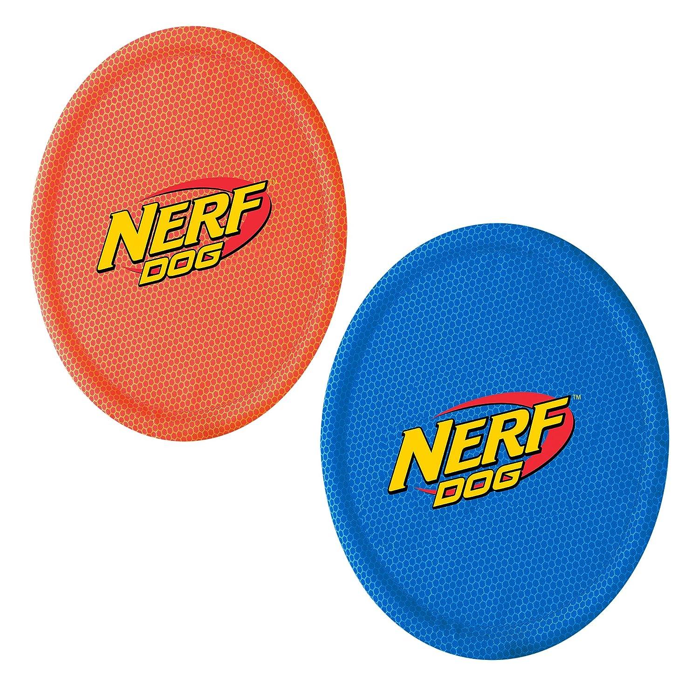 Nerf Nylon Flyer 10 2//Pkg-Blue /& Red