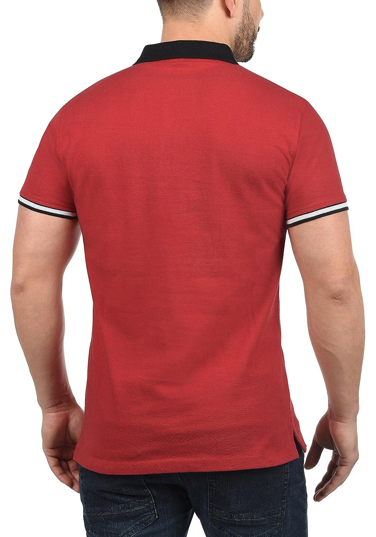 Blend Prato Camiseta Polo De Manga Corta para Hombre con Cuello De Polo De 100/% Algod/ón