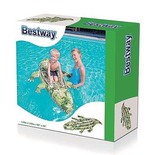 Bestway - Flotador, diseño cocodrilo (41090): Amazon.es: Juguetes y juegos