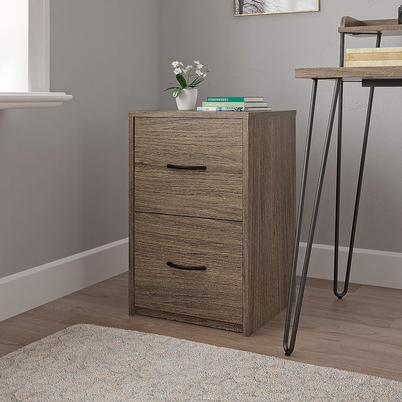 Black Oak Ameriwood Home Core 2 Drawer File Cabinet