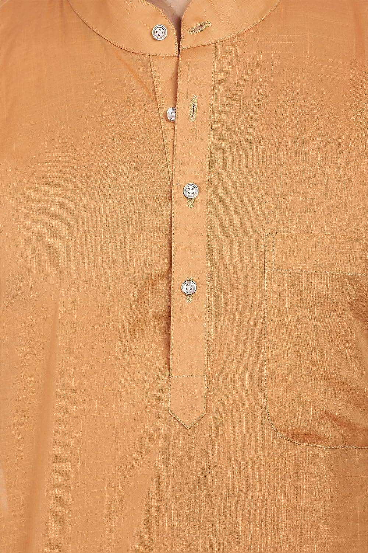 WINTAGE Mens Cotton Polyester Festive and Casual Orange Kurta Pyjama 7 Colors kp004