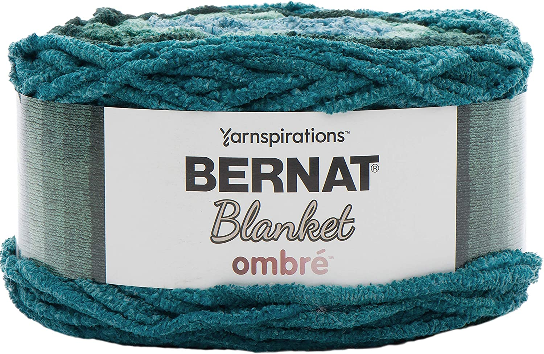 Bernat Blanket Yarn, Ocean Teal Ombre