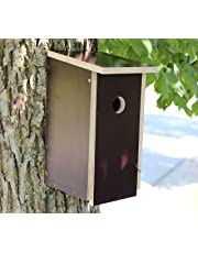 großer nesträubersicherer stabiler Nistkasten Vogelhaus Nisthaus - Brutraum: Innenmaße: 12x12x24cm - Abstand Einfluglochmitte / Boden: 17cm (gegen Nesträuber)
