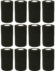 COBOX Haftbandage–12Rollen x 10cm x 4.5m Erste Hilfe Sport Wrap Haftbandage, Pet Vet wrap selbst den Verbände