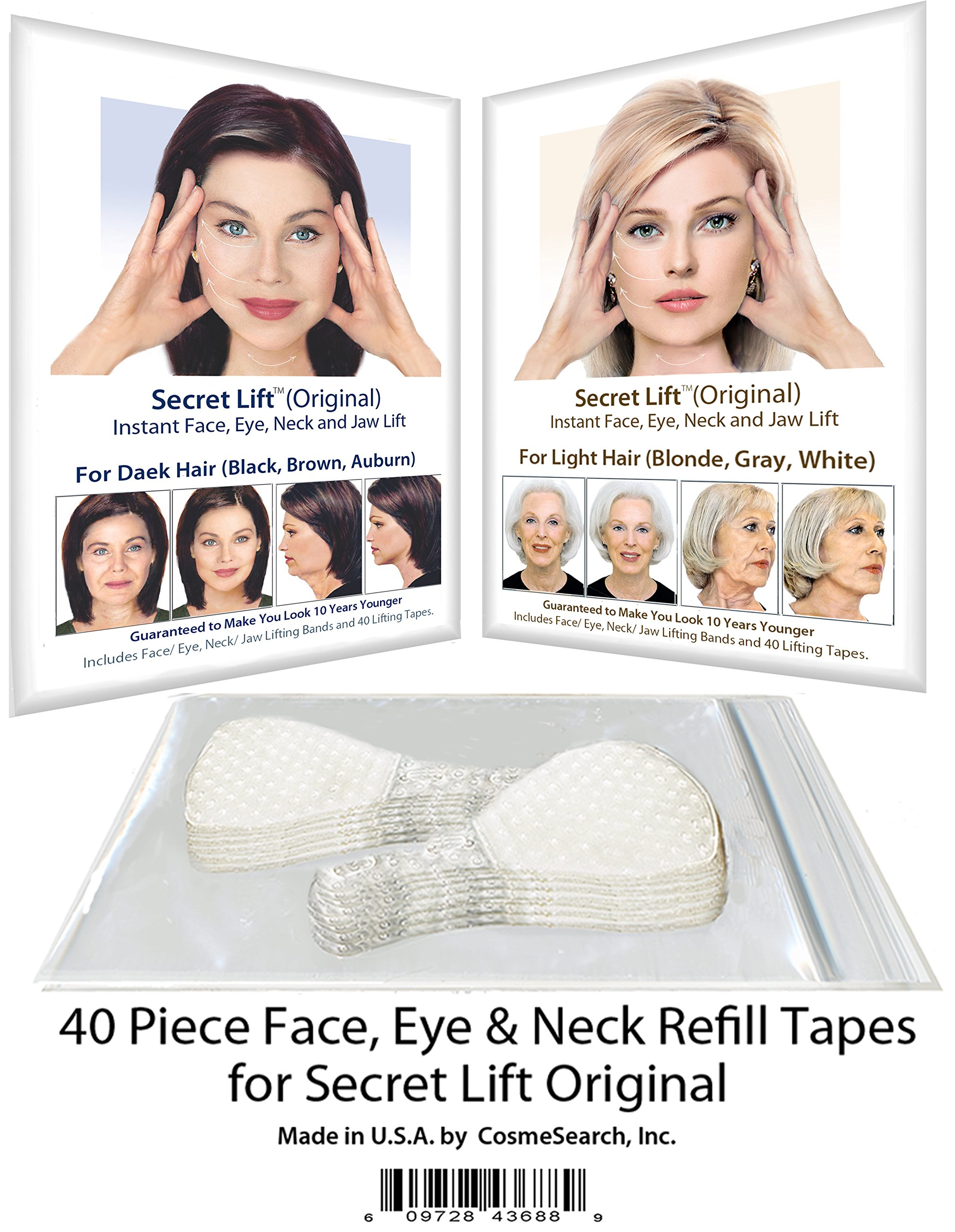 40 Piece Refill Tapes for Instant Face, Neck and Eye Lift Kit