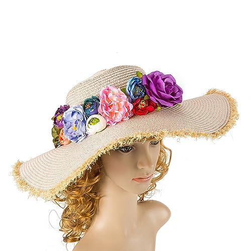 39a422ad Amazon.com: Wite Women Hat Kentucky Derby Hat Summer Hat Church Hat Wedding  Hat Bridal Hat: Handmade