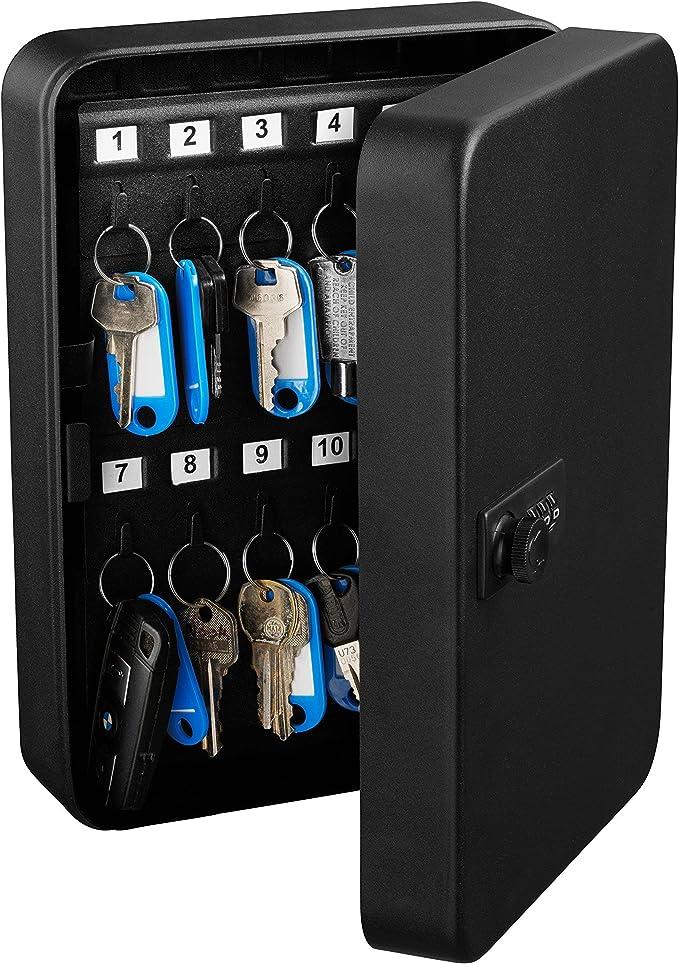 AdirOffice Key Steel Security Cabinet Box - 48 Keys Capacity - Combination Lock (White)26.95