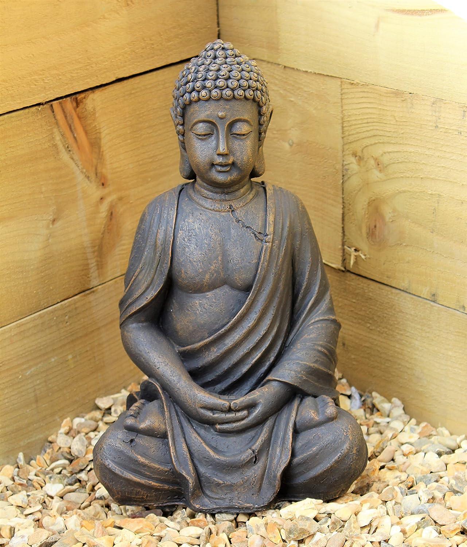 Stone buddha garden ornament garden ftempo - Statue bouddha interieur maison ...