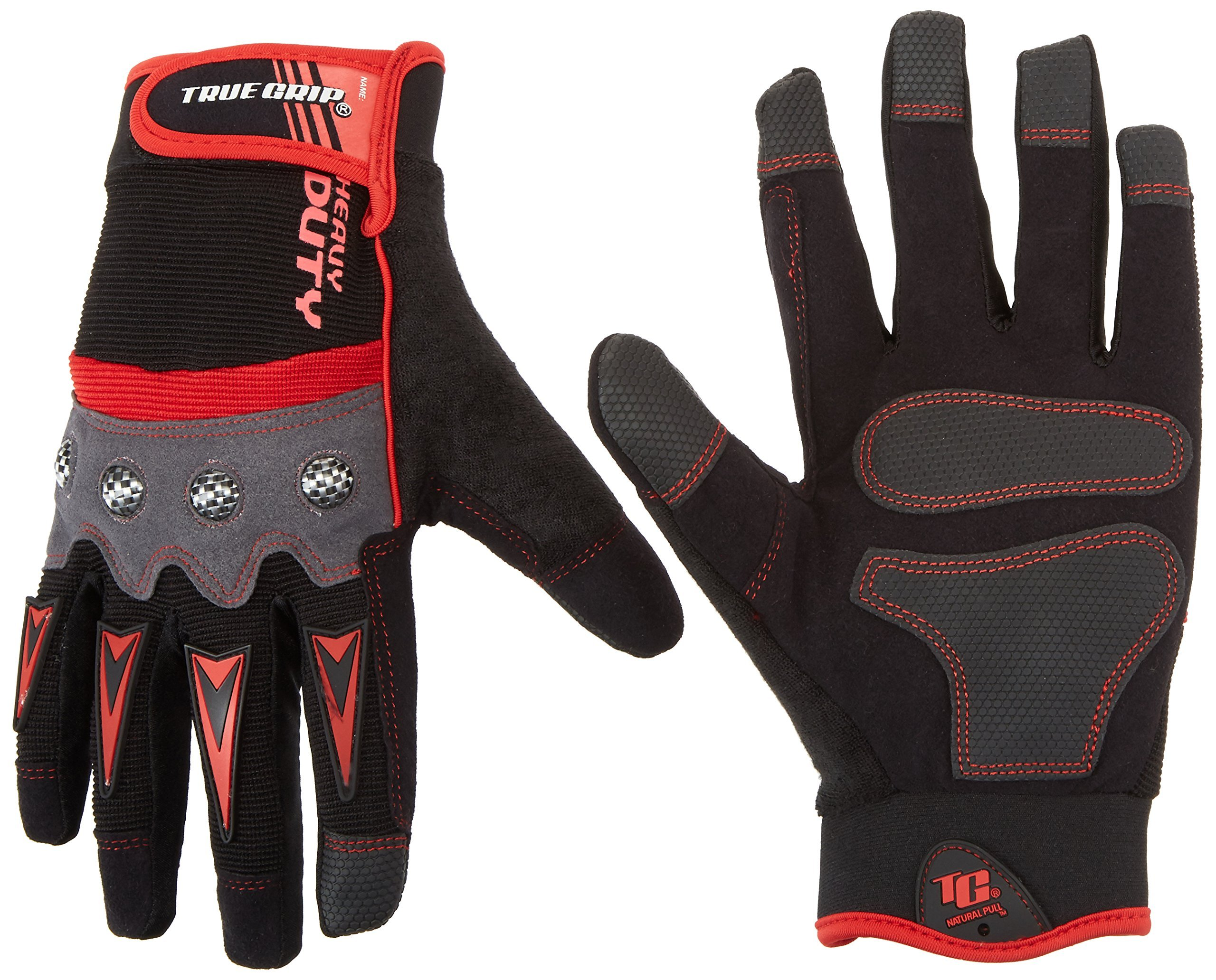True Grip Heavy Duty Work Gloves with Touch Screen Capability, Large by True Grip