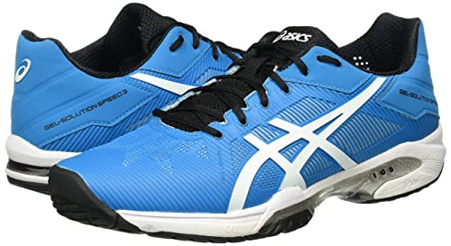 Asics Gel Solution Speed 3 Scarpe da Ginnastica Uomo Blu Blue L4A