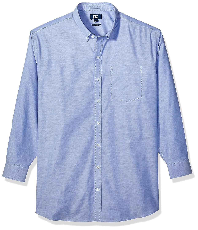 French bleu Oxford 2X Haut Cutter & Buck Homme BCW00143 Manches Longues Chemise habillée
