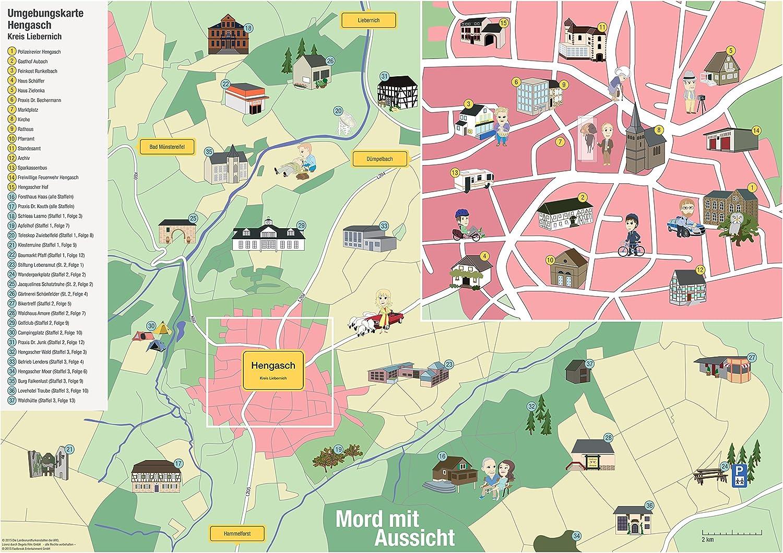 Amazon De Mord Mit Aussicht Poster A1 Landkarte Hengasch Kreis