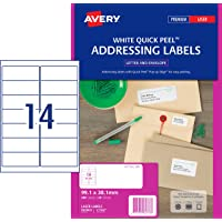 Avery Address Labels with Quick Peel™ for Laser Printers, 99.1 x 38.1 mm, 280 Labels (952003 / L7163)