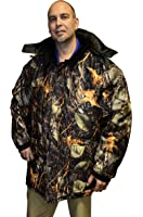 Big Mens Burly Camo Waterproof Breathable Insulated Hooded Parka
