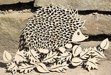 Amazonde Holz Igel Bild Kunst Laser Schnitt Mdf Craft Plaque