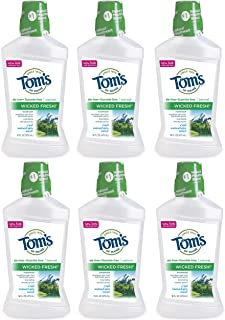 product image for Tom's of Maine Long Lasting Wicked Fresh Cool Mountain Mint Mouth Wash, 16 Ounce Bottles, Pack of 6