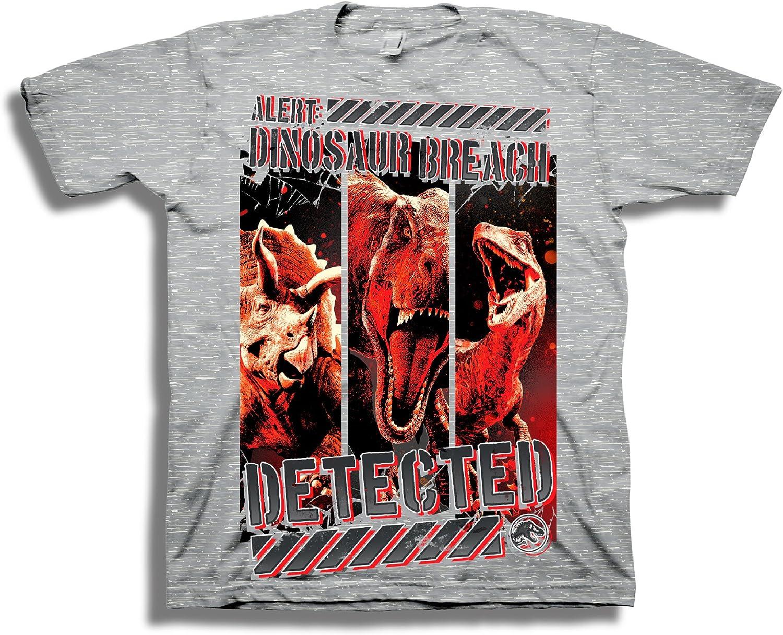 JURASSIC WORLD Boys 2 Fallen Kingdom Alert Dinosaur Breach Tshirt