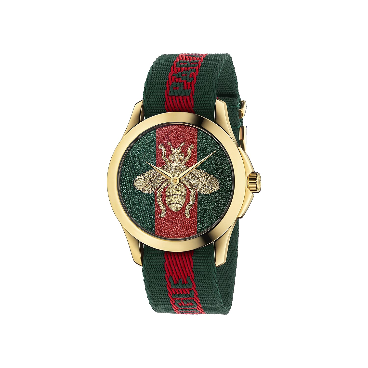 149098eacd0 Buy Gucci Quartz Gold and Nylon Casual Watch