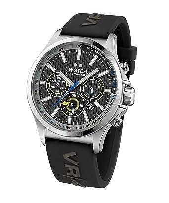 TW Steel Mens TW939 Analog Display Quartz Black Watch
