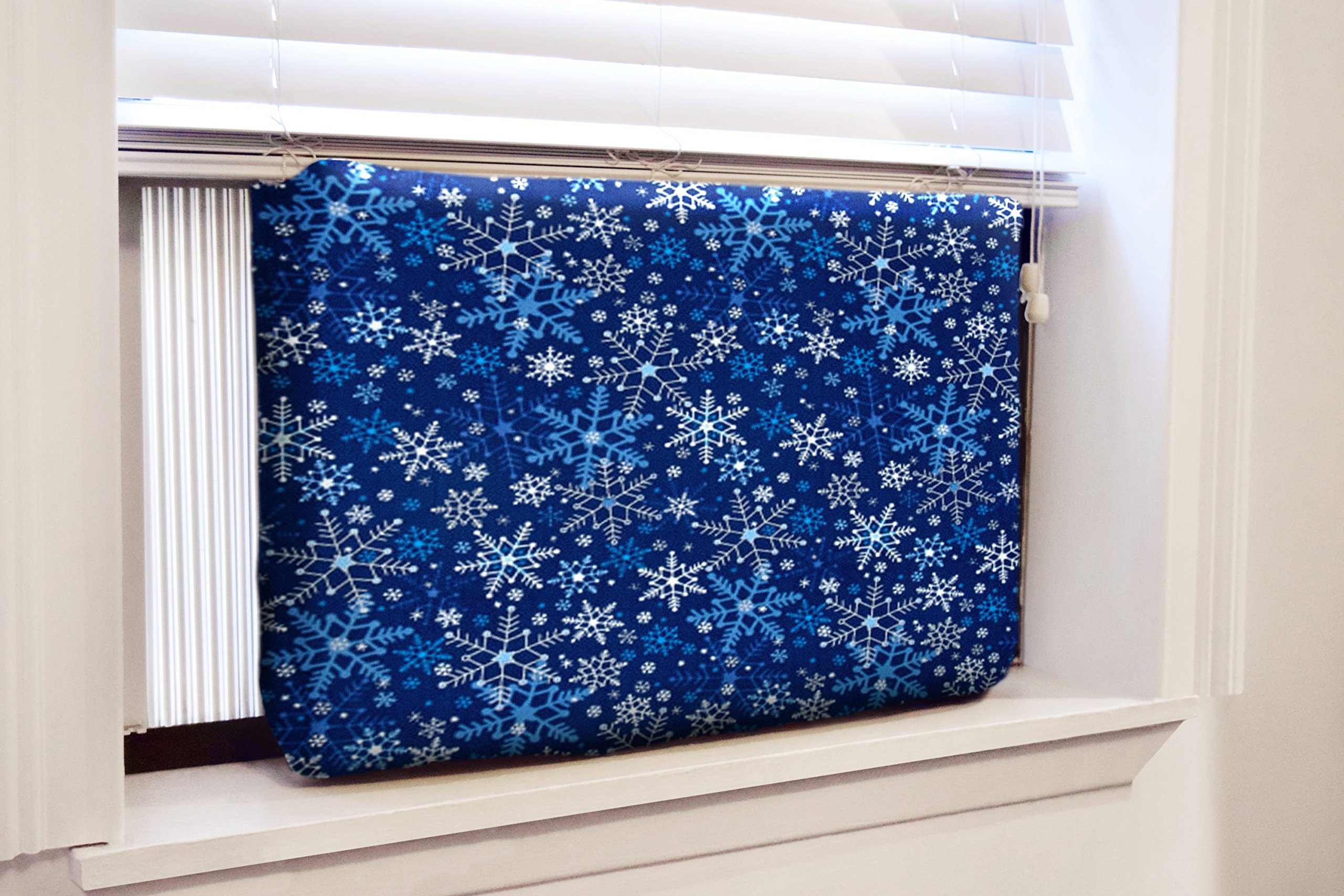 Gerrard Larriett Aromatherapy Pet Care Premium Quilted Indoor Air Conditioner Covers for Window Units 24'' W x 15'' H - Snowflakes