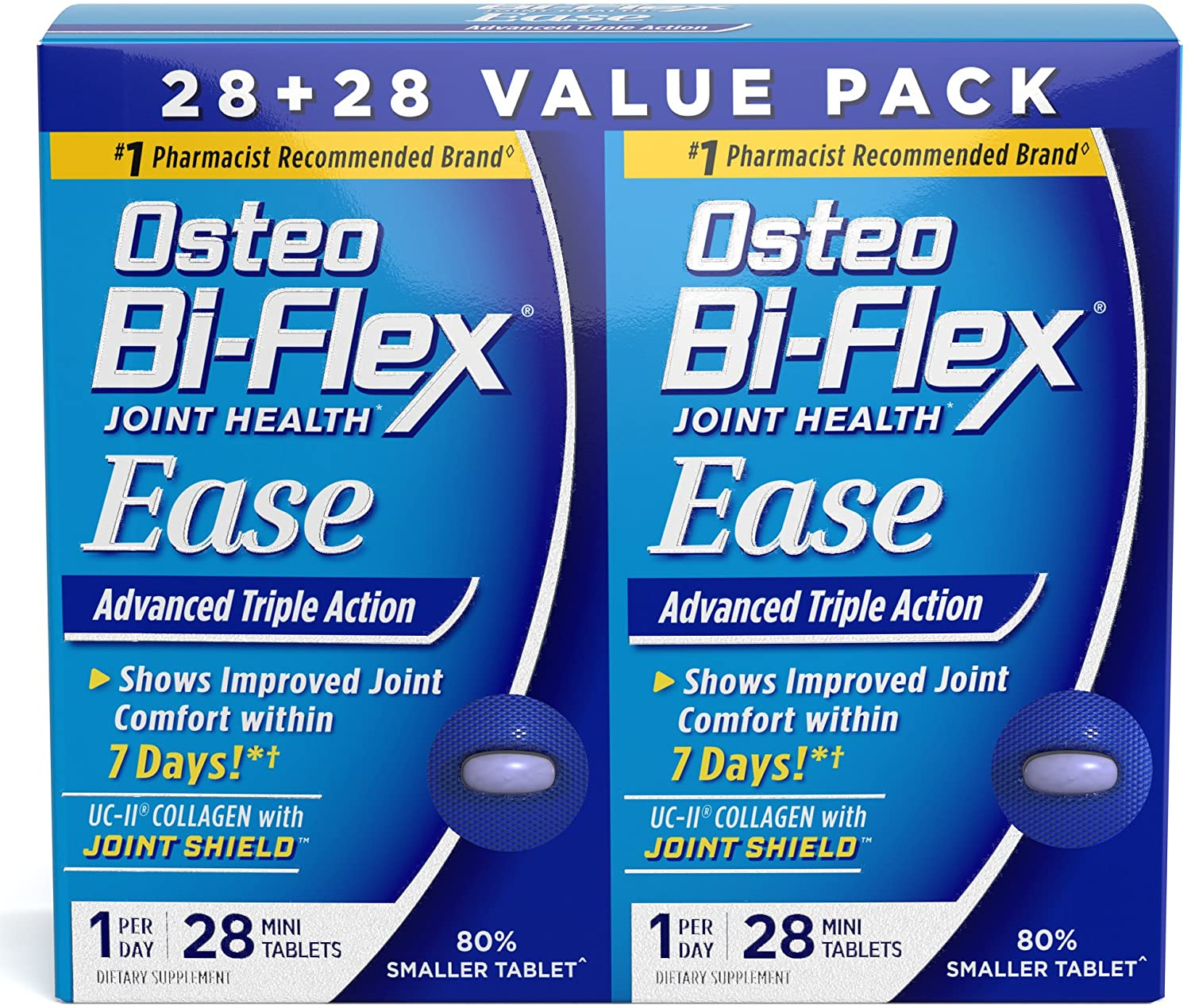 Osteo Bi-Flex One Per Day, Joint Health Ease, Advanced Triple Action, with Vitamin D for Bone and Immune Health* Variety Pack, 56 Mini Tablets