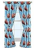 "Jay Franco Disney Pixar Cars Velocity 84"" Decorative Curtain/Drapes 4 Piece Set (2 Panels, 2 Tiebacks)"