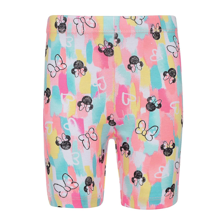 Disney Minnie Mouse Girls Fashion Peplum Top /& Bike Shorts Set