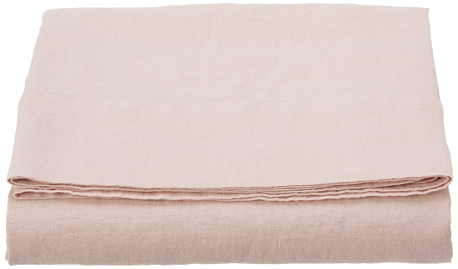 LinenMe 10 Stone Washed Bed Linen Flat Sheet, 66 x 102, Rosa