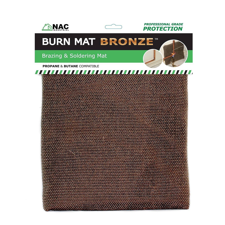 NAC INDUSTRIAL Heat Fire Flame Barrier Heat Resistant Welding Blanket BURN MAT – Kevlar Fabric Heat Shield BRONZE