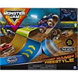 Monster Jam, Official Champ Ramp Freestyle Playset Featuring Exclusive 1:64 Scale Die-Cast Son-uva Digger Monster Truck, Kids
