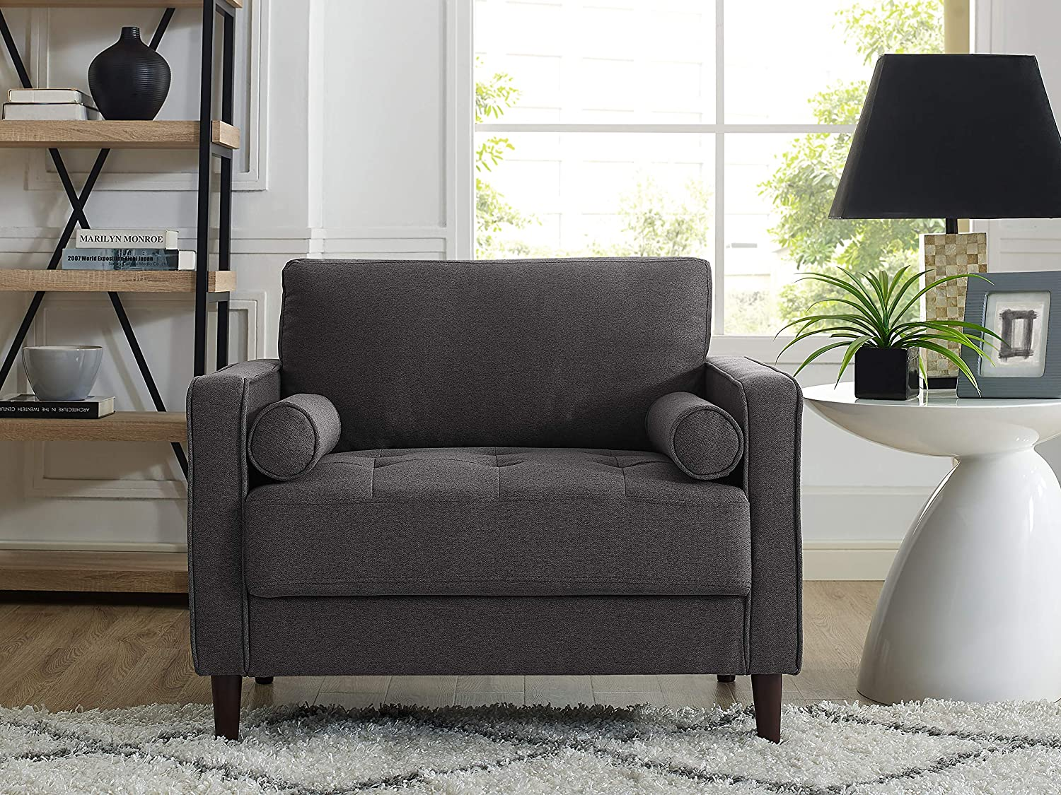 Lifestyle Solutions Lexington Chair, Heather Grey: Kitchen & Dining
