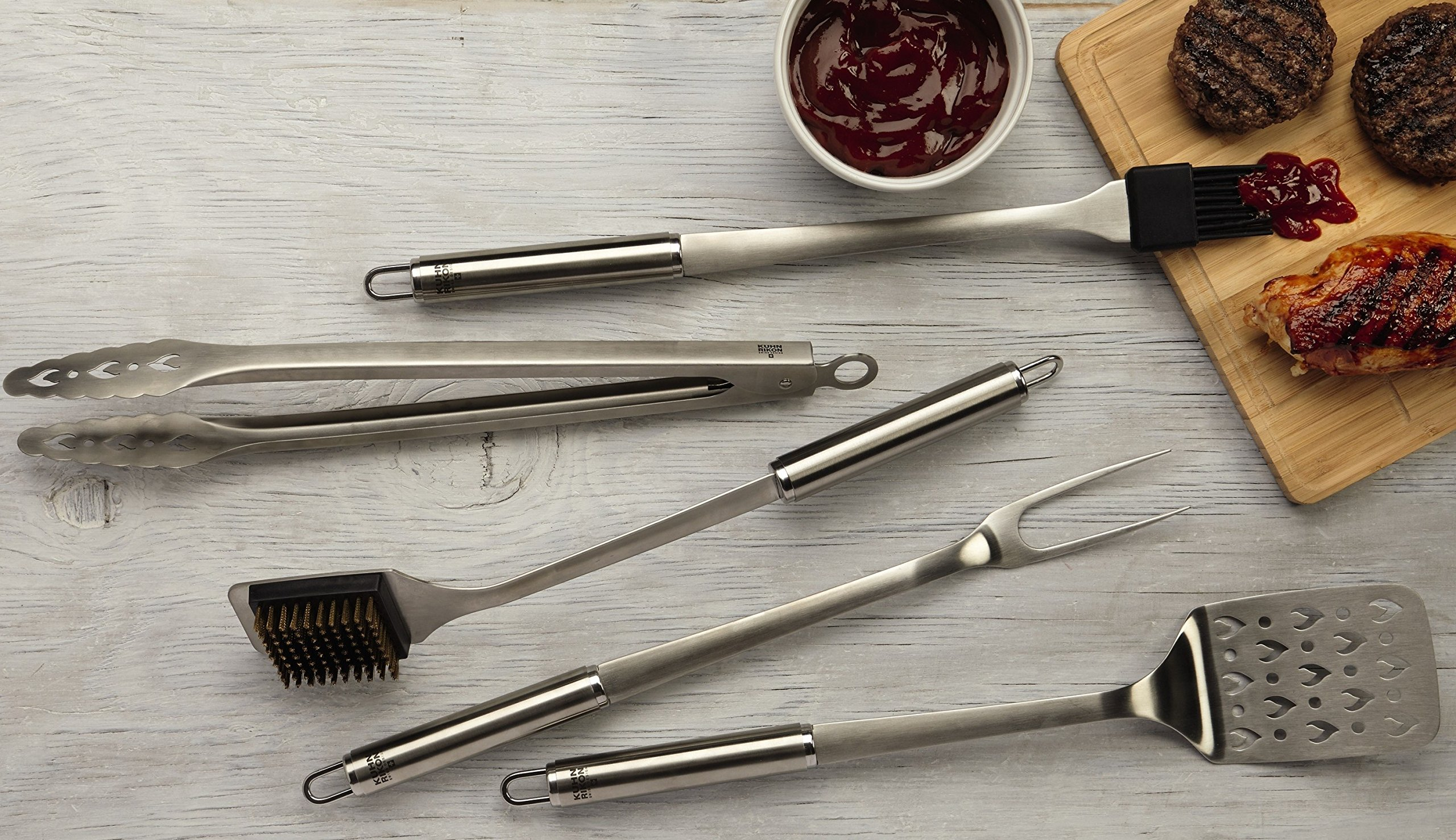 Kuhn Rikon 5 Piece BBQ Tool Set with Case, Stainless Steel by Kuhn Rikon (Image #3)